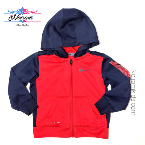 Nike Red Blue Dri Fit Boys Jacket 24M Used View 1