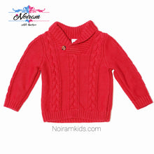 Load image into Gallery viewer, Old Navy Red Cable Knit Baby Boys Sweater Used View 1