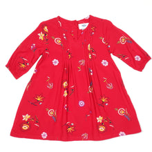 Load image into Gallery viewer, Old Navy Red Floral Print Girls Dress 2T Used View 1