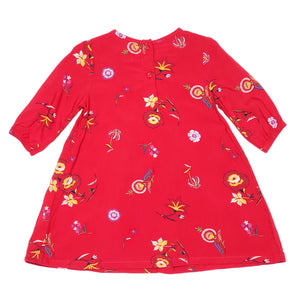 Old Navy Red Floral Print Girls Dress 2T Used View 2