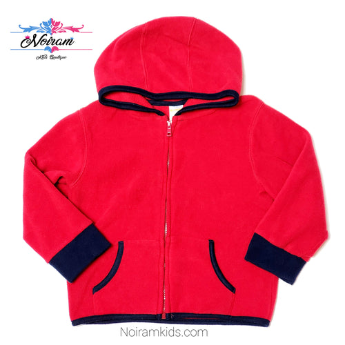 Gymboree Red Zip Up Boys Fleece Jacket 2T Used View 1