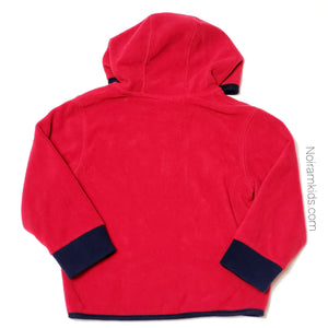 Gymboree Red Zip Up Boys Fleece Jacket 2T Used View 2