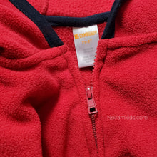 Load image into Gallery viewer, Gymboree Red Zip Up Boys Fleece Jacket 2T Used View 3