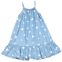 Load image into Gallery viewer, Old Navy Girls Star Print Chambray Dress 5T Used View 2