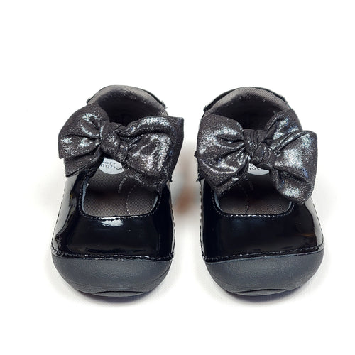 Stride Rite Girls Black Mary Jane Shoes Used View 1