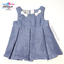 Load image into Gallery viewer, Tahari Blue Baby Girl Dress 12M NWT View 1