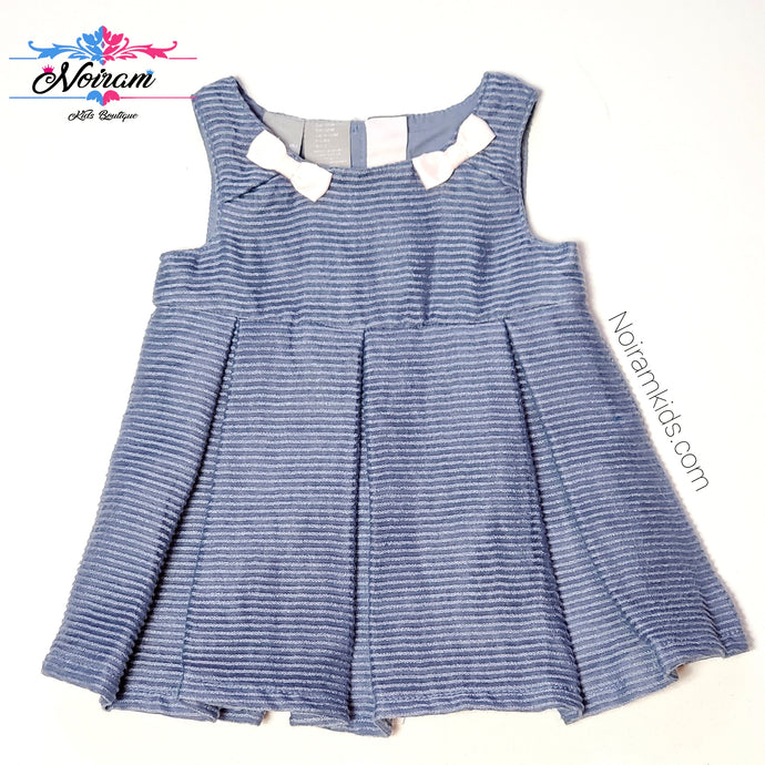 Tahari Blue Baby Girl Dress 12M NWT View 1