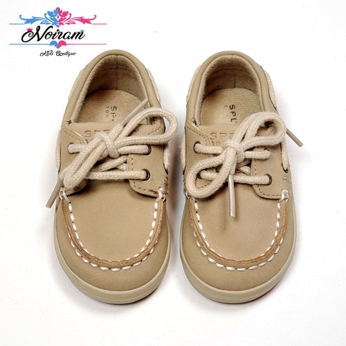 Tan Sperry Intrepid Boys Shoes Size 3M Used View 1
