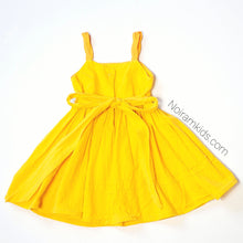 Load image into Gallery viewer, Toddler Girls Yellow Linen Dress 2T Used View 3