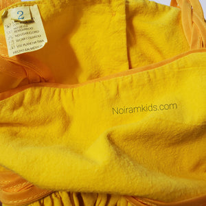 Toddler Girls Yellow Linen Dress 2T Used View 4