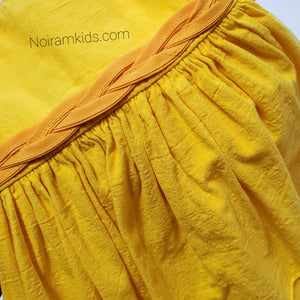 Toddler Girls Yellow Linen Dress 2T Used View 2