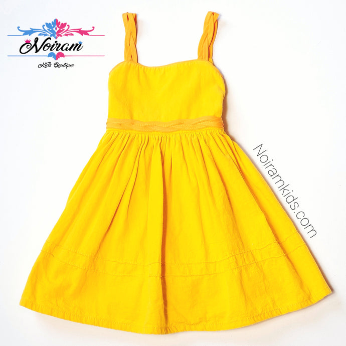 Toddler Girls Yellow Linen Dress 2T Used View 1