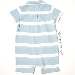 Tucker Tate Blue White Boys Romper 24M Used View 3