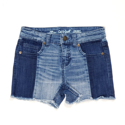 Cat Jack Girls Two Tone Jean Shorts Size 6 Used View 1