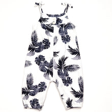 Load image into Gallery viewer, Old Navy Girls White Leaf Print Jumpsuit 3M Used View 2