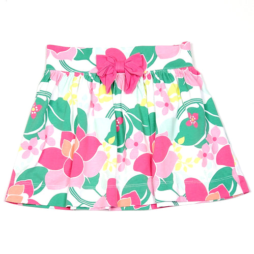 Gymboree White Pink Floral Girls Skirt Size 6 Used View 1