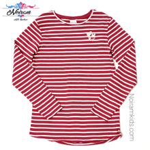 Load image into Gallery viewer, Zara Kids Red White Striped Girls Shirt Size 10 Used View 1