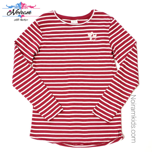 Zara Kids Red White Striped Girls Shirt Size 10 Used View 1
