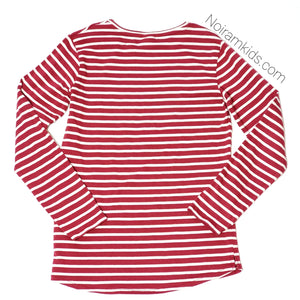 Zara Kids Red White Striped Girls Shirt Size 10 Used View 2