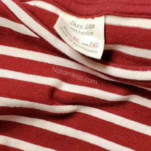 Zara Kids Red White Striped Girls Shirt Size 10 Used View 3