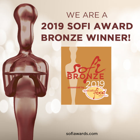 2019 Bronze medal sofi award for Salted Brown Sugar pudding mix