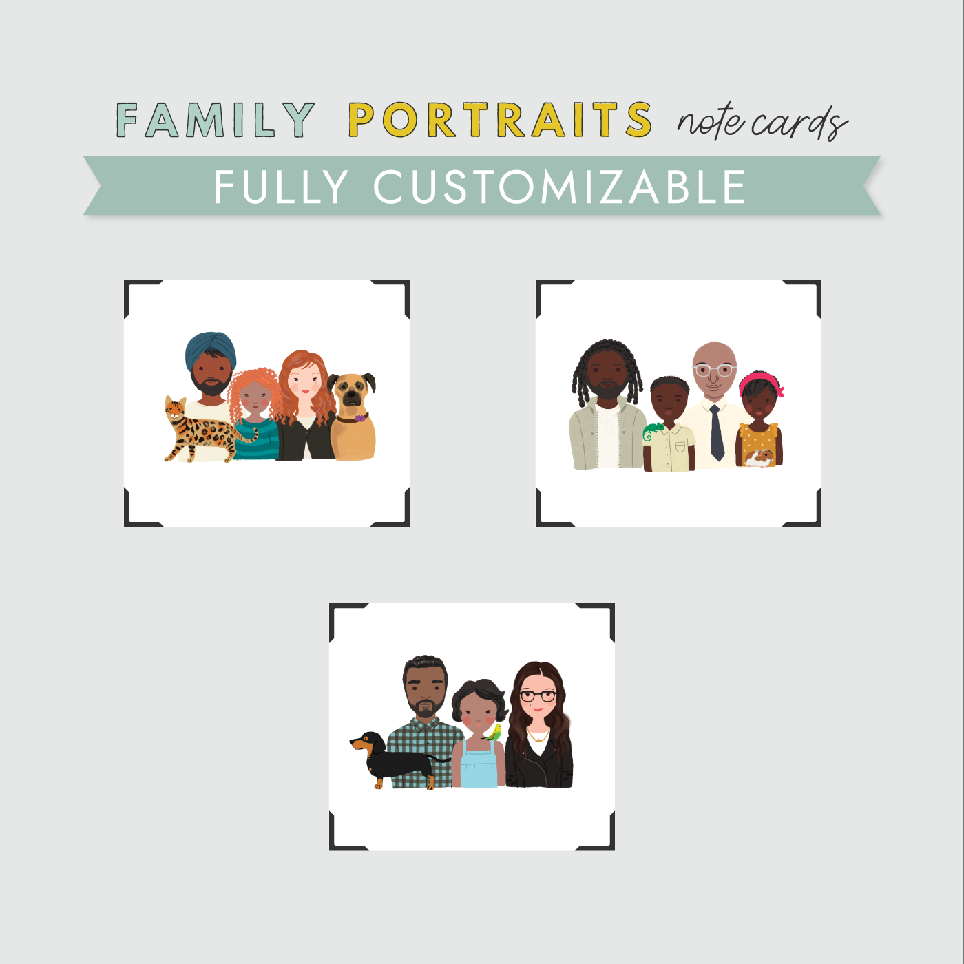 Family Portrait Stationery