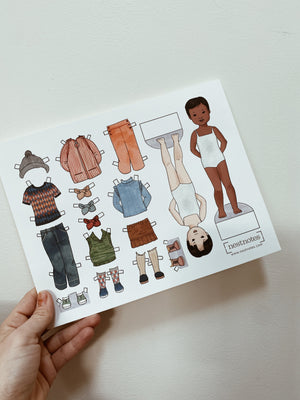 Printable Paper Doll Outfits | Blank coloring templates