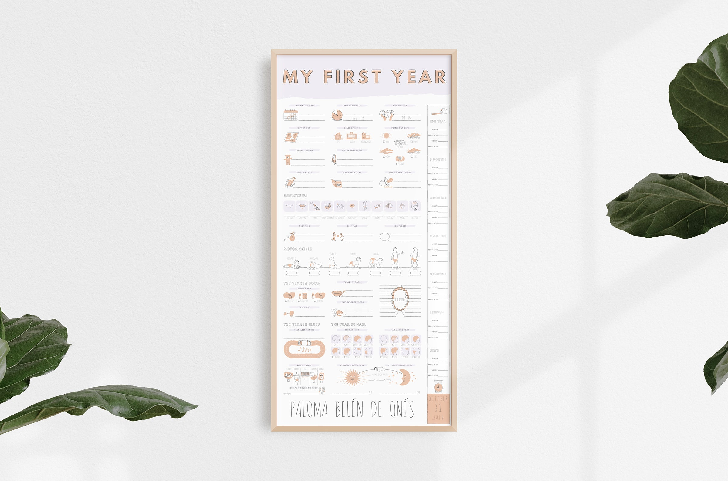 My First Year Poster - Simple