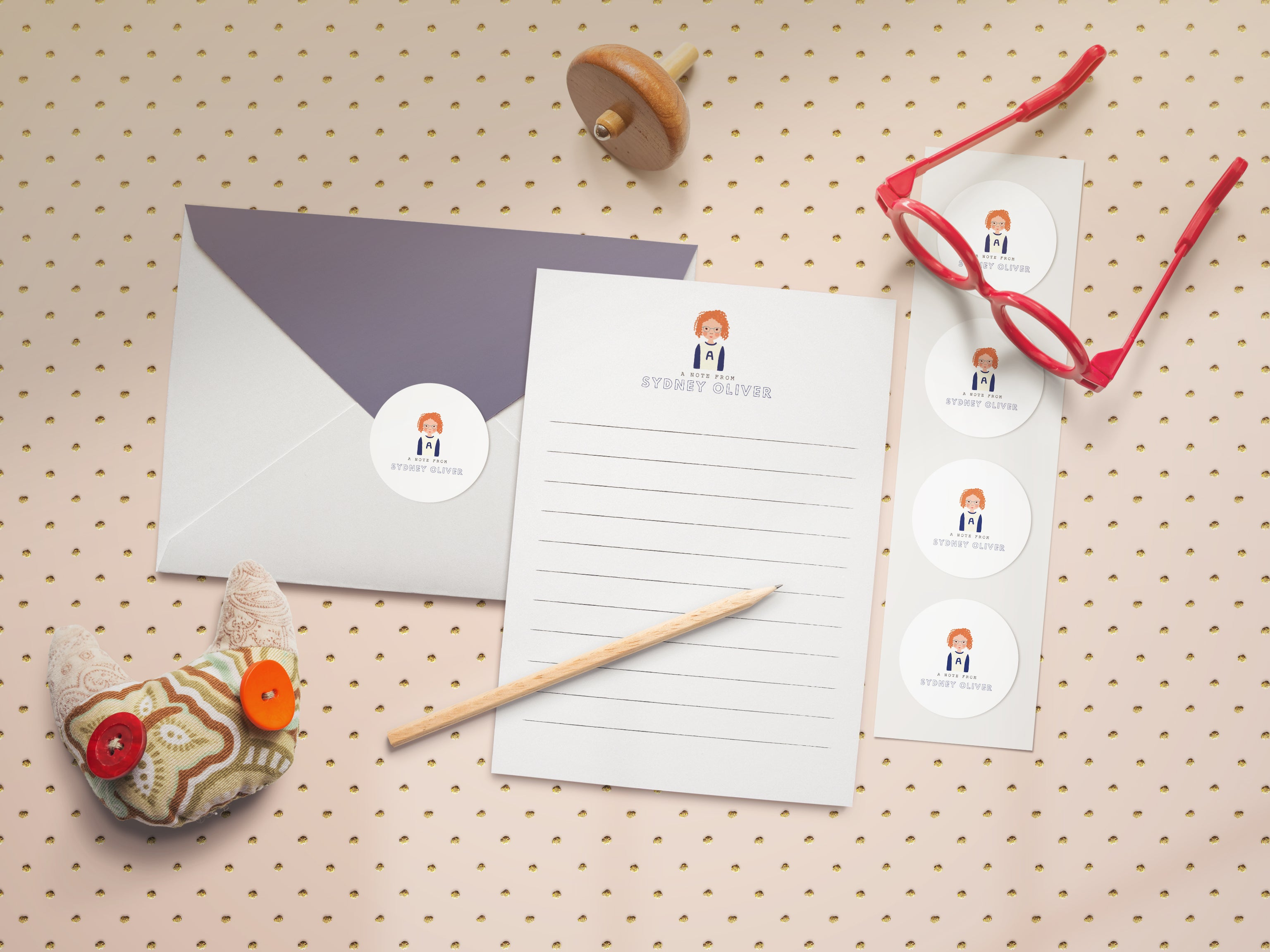 Children's Stationery with Custom Portrait