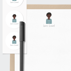 Stationery with Custom Portrait