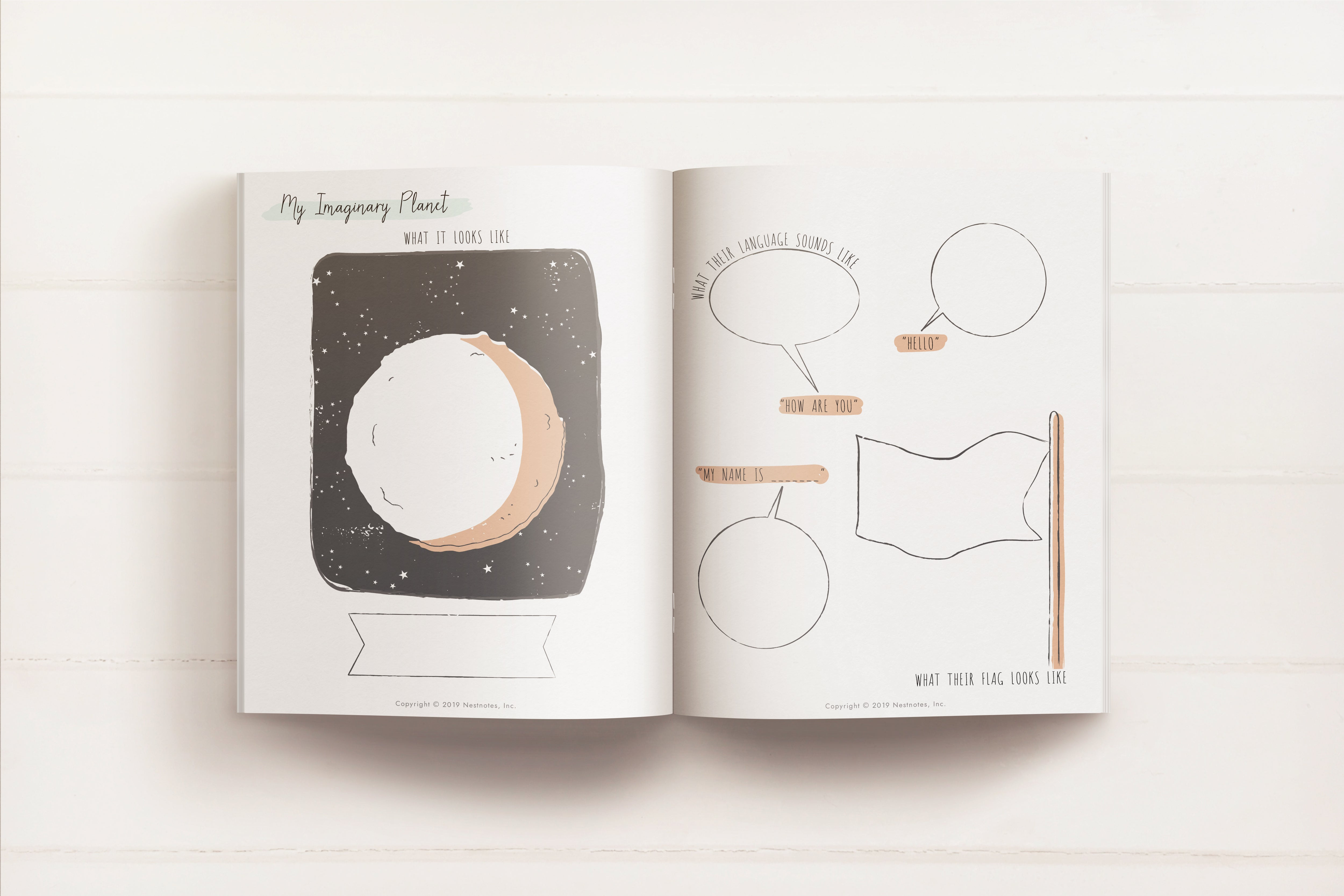 FREE Printable My Imagination Kids Activity book