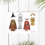 Printable Paper Doll Outfits | Dress-Up and Play Outfits