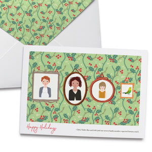 Holiday Cards with Custom Family Portrait
