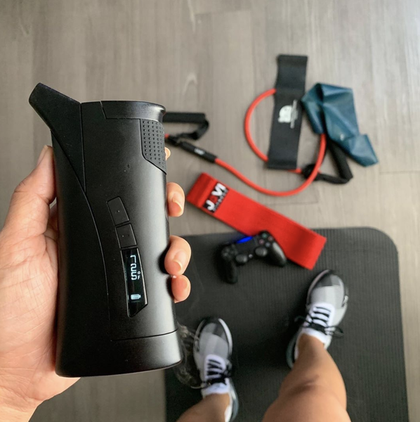 Grenco Science G Pen Roam Portable Dab Rig at the gym