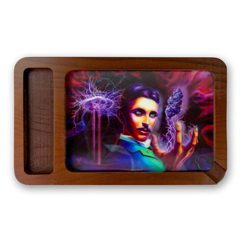 V Syndicate High Def Wooden Rolling Tray With Side Storage