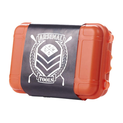Handy and secure Arsenal Tools pipe case smoking device and accessories storage industrial look