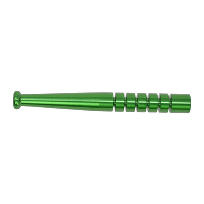 Green metal oney little pipe one hitter smoking device with baseball bat design textured ridges