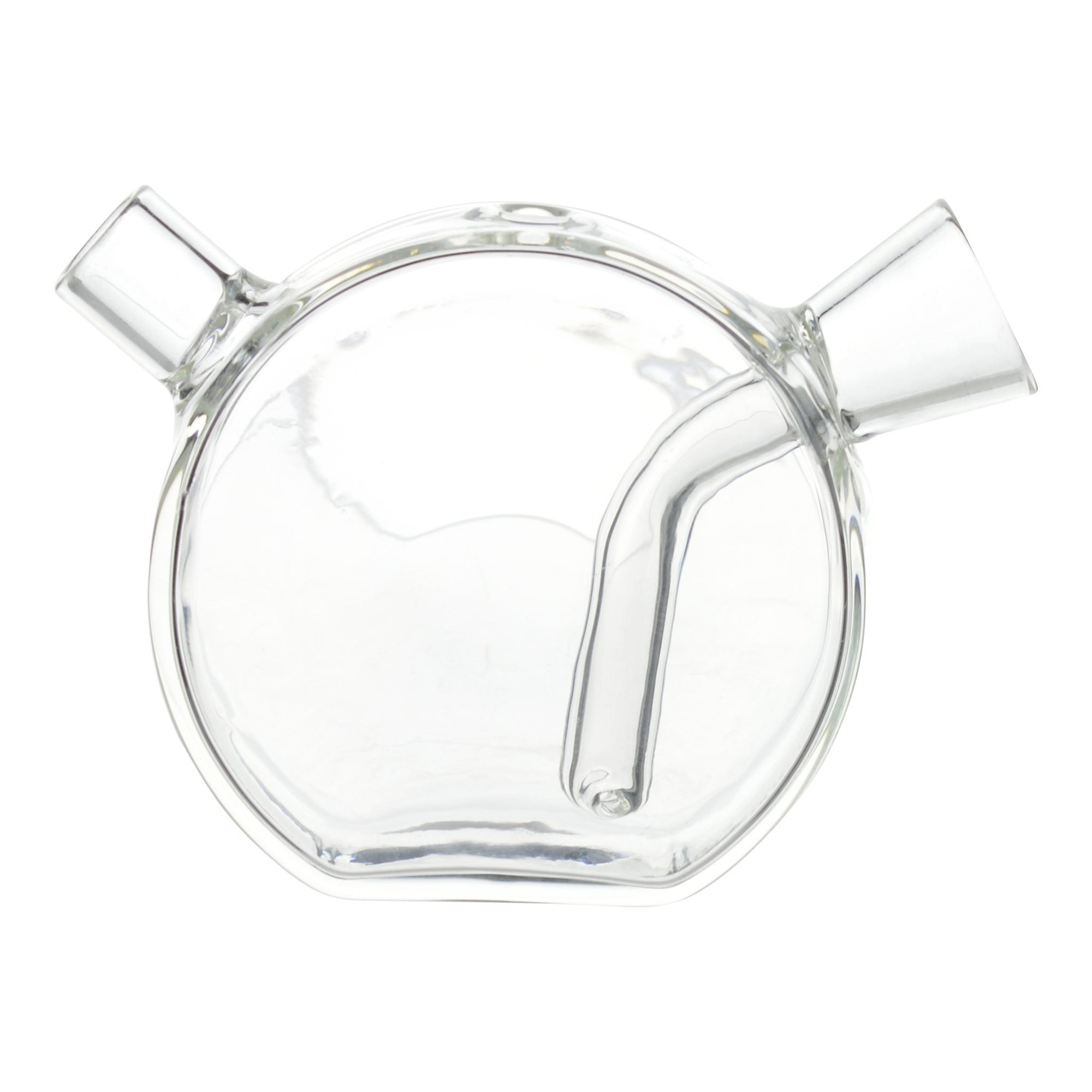 Clear portable 2.5-inch glass joint - bubbler accessory two ends unique round design sturdy base