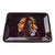 Black background 7 inch metal rolling tray side view shot of back to back Bob Marley and a lion both closed eyes
