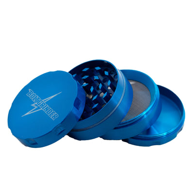 50-mm 4-piece metal Bolt Grinder rotary grinder cool and sleek look blue metallic colors