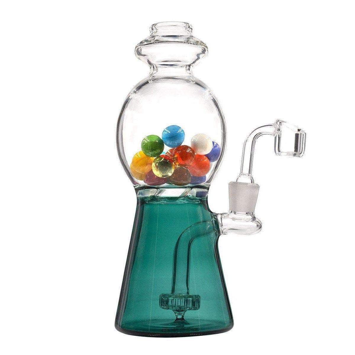 Cute 8-inch glass dab rig smoking device looks like coin-operated candy bubblegum machine