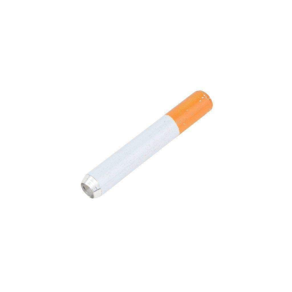 User-friendly compact 3-inch cigarette smoking device made of metal and ceramic with classic average cigarette look