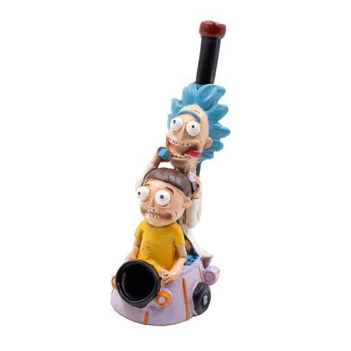Cool hand-painted clay pipe smoking device figurine-like in Rick and morty Space Ship design