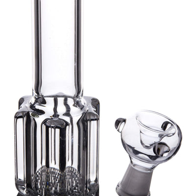 13-inch glass smoking device with sleek shape and elegant layered crystal design