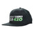 "Black snapback cap with an ""Everything for 420"" label and weed leef pot logo in white and green colors facing left slightly"