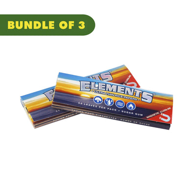 2 packs 1 1/4 rolling paper smoking accessory with classic Elements logo ocean and sunset image