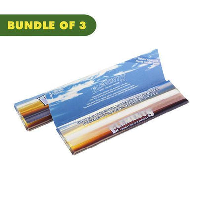 2 pack of open ultra-thin rollings papers with classic Elements logo ocean and sunset image