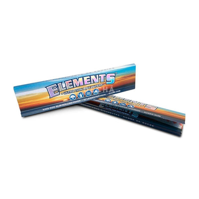 2 pack of closed ultra-thin king size slim rollings papers with classic Elements logo