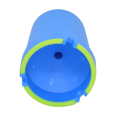 Easy-to-clean glow in the dark cup ashtray smoking accessory with cylinder shape bucket pail look refreshing color