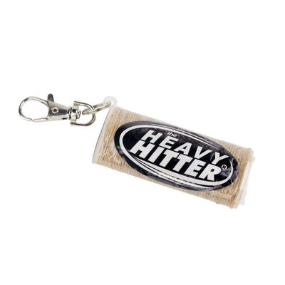 Wick lighter case keychain made from organic hemp beeswax fits all standard-sized lighters Heavy Hitter logo rustic look